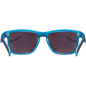 UVEX LGL 39 Occhiali, black matt blue/mirror blue